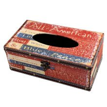 Retro Style Wooden Tissue Box Paper Tissue Holder Facial Tissues Container