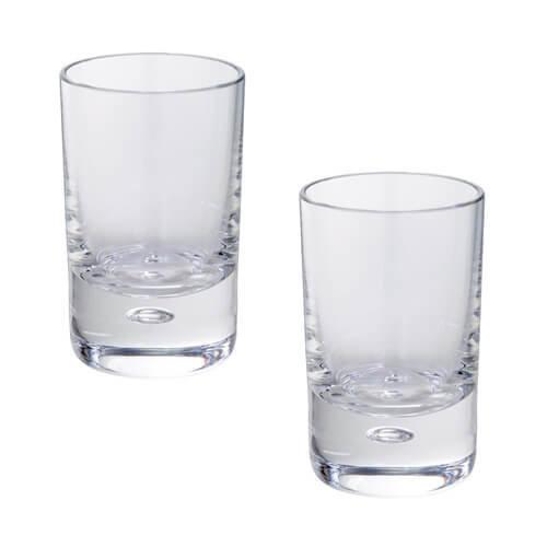 Dartington Exmoor Shot Glass, Clear, Pack of 2