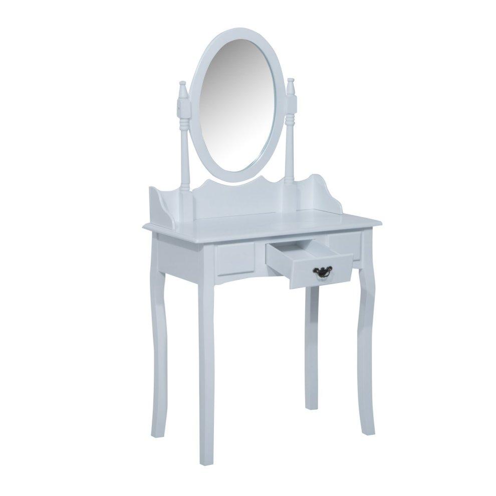 Swell Homcom Wooden Dressing Table Vanity Set Seat W Mirror Stool White Ncnpc Chair Design For Home Ncnpcorg