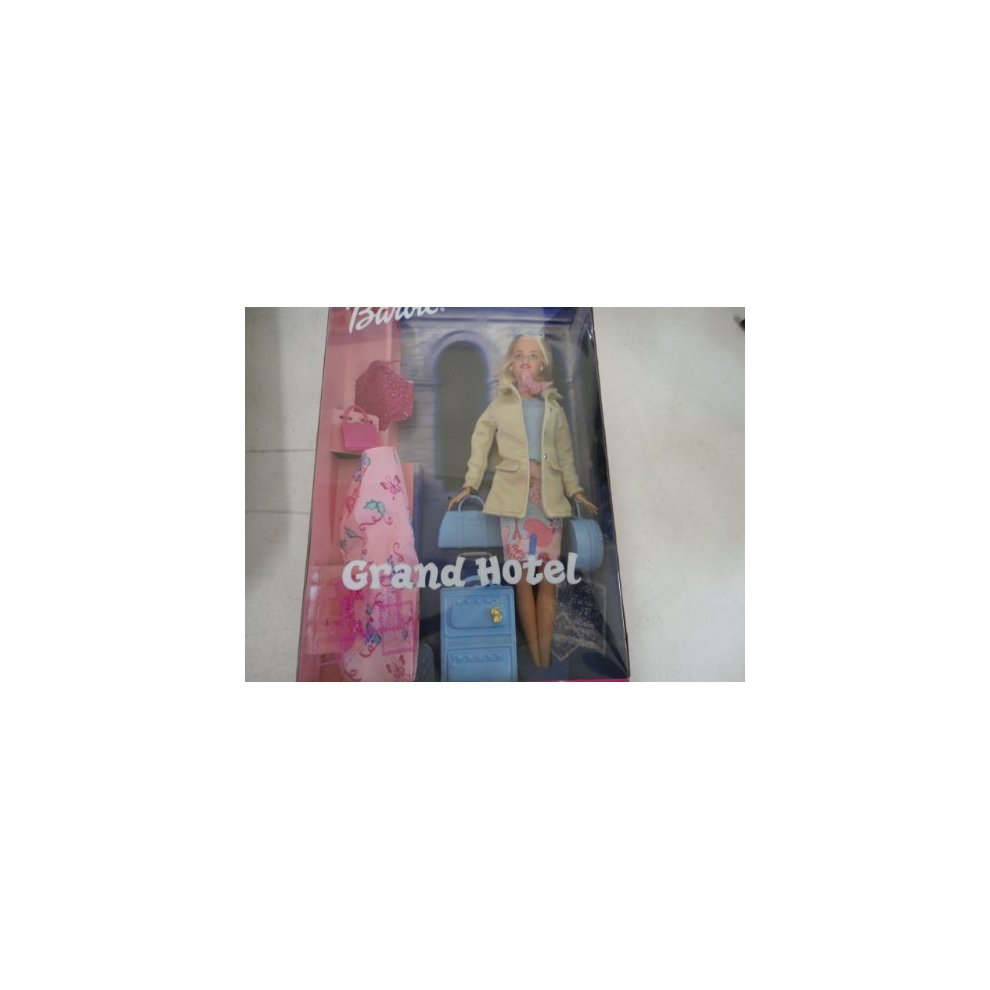 Barbie Grand Hotel Doll With Suitcase On Onbuy