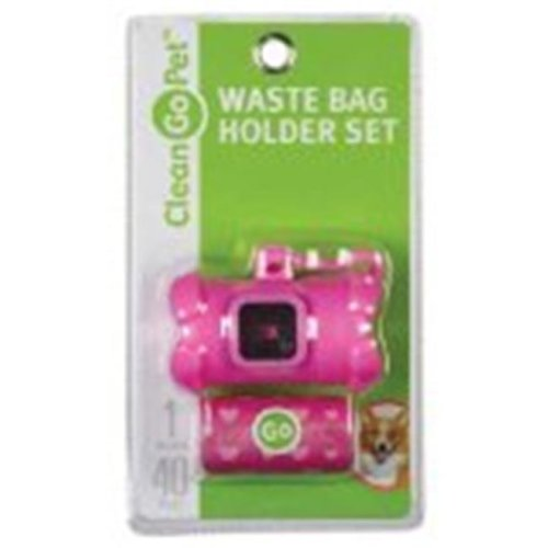 Clean Go Pet ZW4641 75 Bone Waste Bag Holder Pink