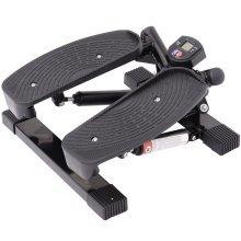 Homcom Mini Stepper Legs Arms Thigh Toner Fitness-black
