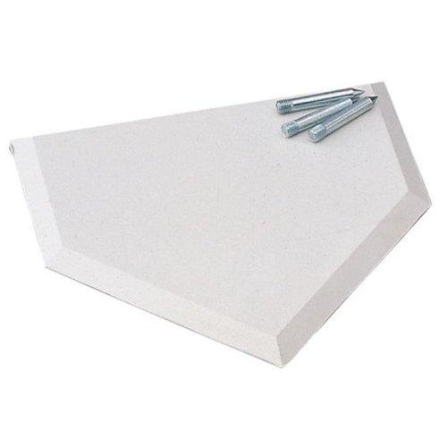 E-Z Slide Home Plate, White
