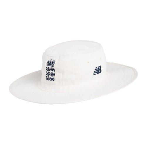 2019/20 New Balance ECB England Wide Brim Cricket Sun Hat, Angora