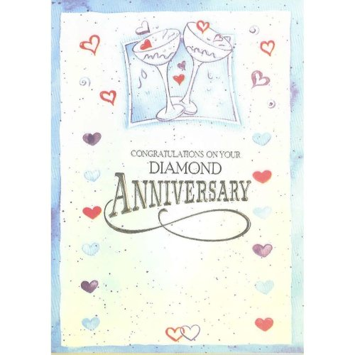Congratulation on your Diamond Anniversary Greeting Card by Cardio