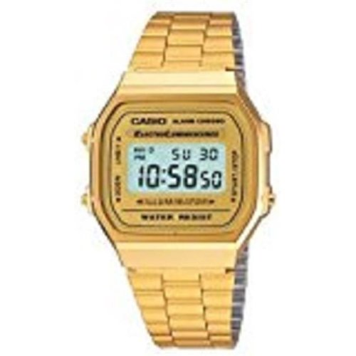 Casio A168WG-9WDF Gold-Tone Stainless Steel Mens Watch