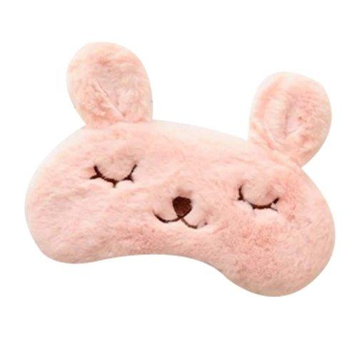 [Pink] Lovely Eye Mask Soft Eyeshade Great Gift Blindfold Shade Cover For Sleep