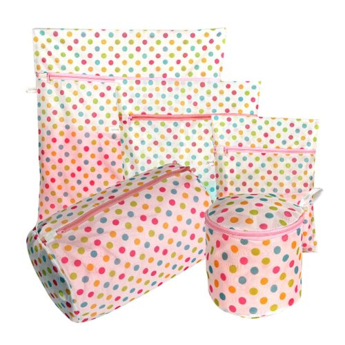 Set of 5 Thin Mesh Thicken Underwear Laundry Bags Protection Laundry Bags A