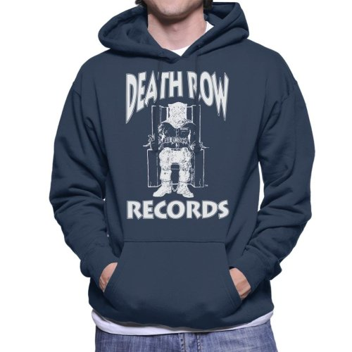 Death Row Records Chair Logo White Men's Hooded Sweatshirt