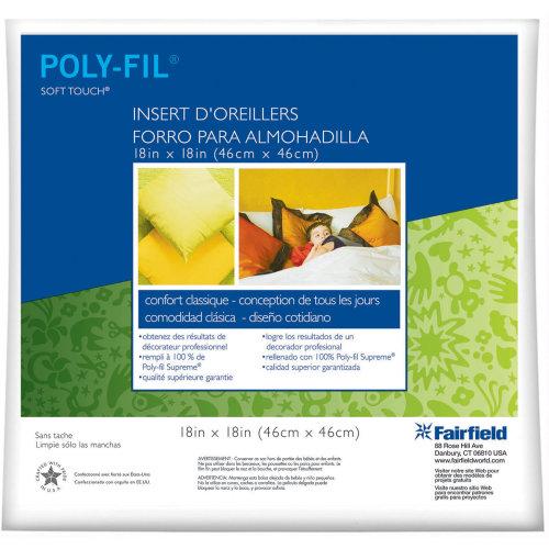 "Fairfield Soft Touch Down-Like Pillowform-18""X18"" 100% Polyester FOB: MI"