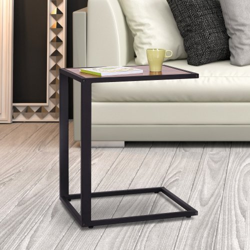 Homcom C Coffee Table | C Shape Side Table