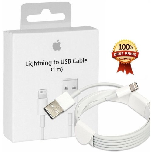 Apple 1M Lightning To USB Charger Cable | iPhone 5, 5S, 6 & iPad Air Charger