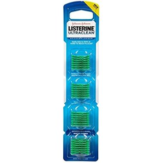 Listerine Ultraclean Access Flossers Disposable Heads Fresh Mint Crystals 28 Each (Pack of 2)