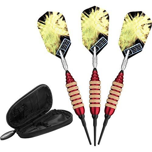 Viper Spinning Bee Soft Tip Darts with Casemaster Storage/Travel Case, Red, 16 Grams