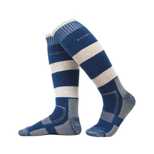 BLUE Outdoor Men Warm Soft Skiing Cycling Socks, One Size