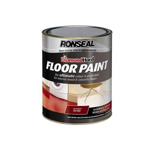 Ronseal 36108 Diamond Hard Floor Paint Tile Red 5 Litre