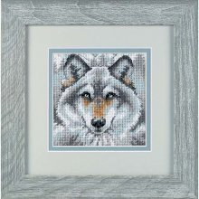 D07211 - Dimensions Mini Needlepoint - Call of the Wolf