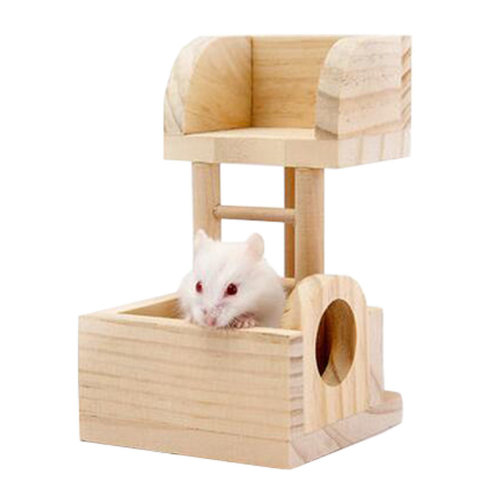 Cute Hamster Hideout Hut, Cute Wooden Bedding for Small Animals?U
