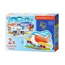 Csb020072 - Castorland Jigsaw Premium (c)(9, 15pc) - Airport Fun