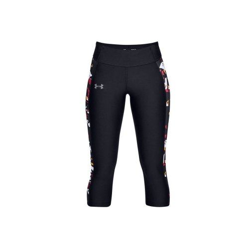 Under Armour Speed Stride Printed Capri 1321446-004 Womens Black leggings