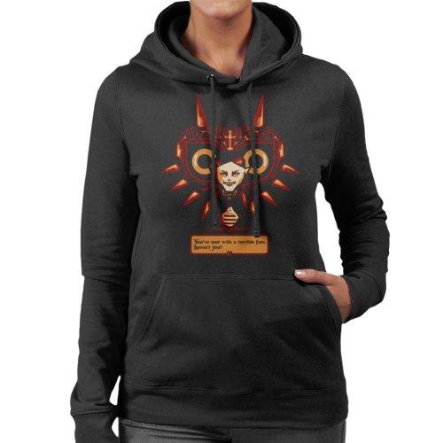 Terrible Fate Majoras Mask Legend Of Zelda Women's Hooded Sweatshirt