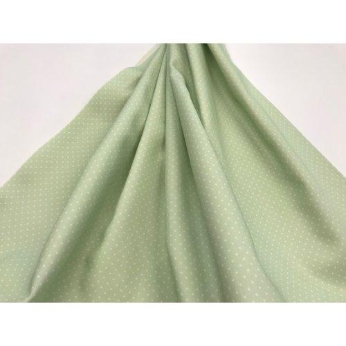 facric cotton polka dot apple green color - twill 100% cotton 2 X 1 METERS