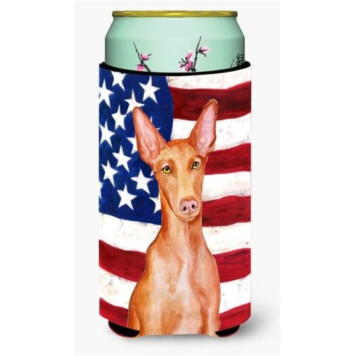 Carolines Treasures BB9715TBC Pharaoh Hound Patriotic Tall Boy Beverage Insulator Hugger