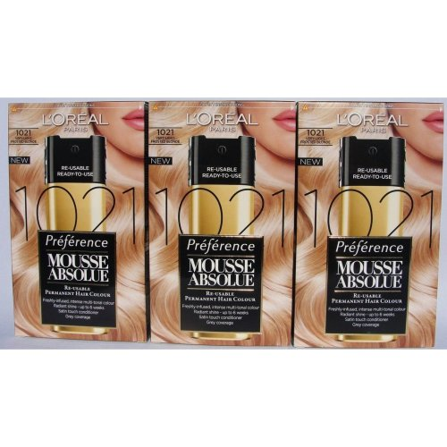 L'oreal Paris Mousse Absolue Very Light Frosted Blonde 1021 x 3 Packs