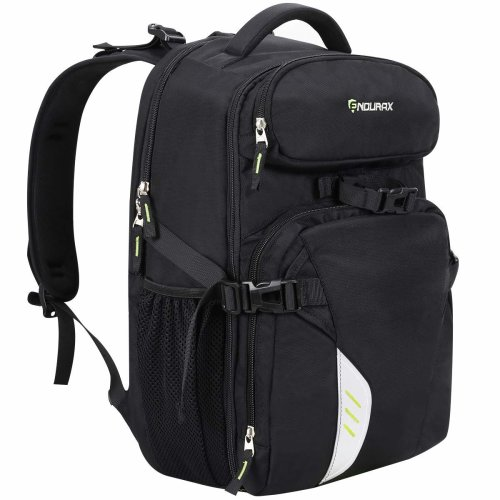 Endurax Professional Camera Laptop Backpack Bag for 2 Pro-Sized DSLR / SLR Camera, 3-5 Lenses, 15.6 Inch Laptop for Canon, Nikon, Sony, Panasonic, Pentax, Olympus and More