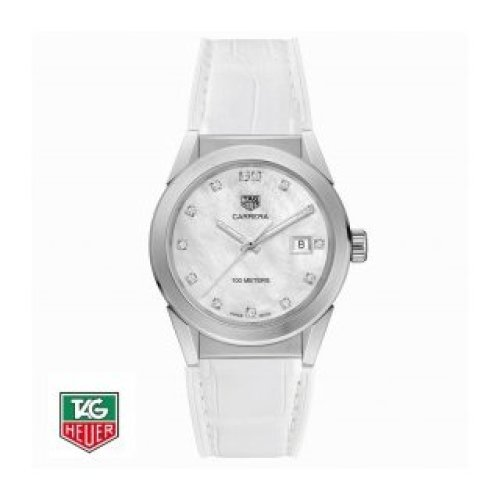 TAG HEUER CARRERA 36 MM MOTHER-OF-PEARL AND DIAMONDS WBG1312.FC6412