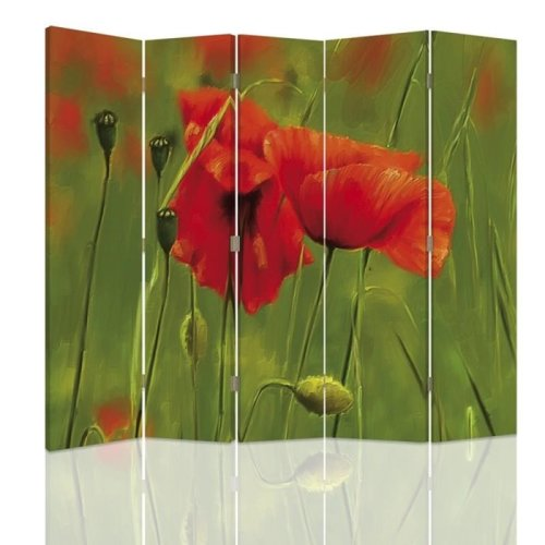 Poppy Watercolour Screen/Room Divider