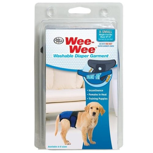 Four Paws 45663972714 Wee-Wee Diaper Garment, Extra Small