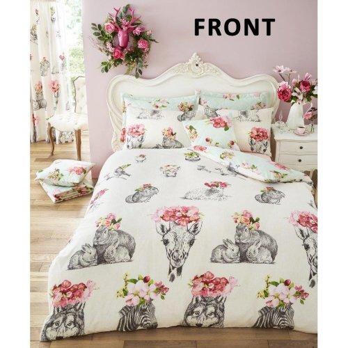Sketch Line animal print cotton blend duvet cover