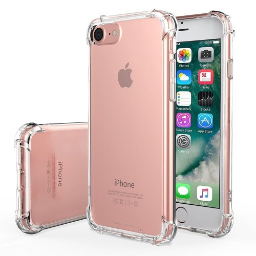 For iphone 7/8 Crystal Clear Transparent Silicone Back Case