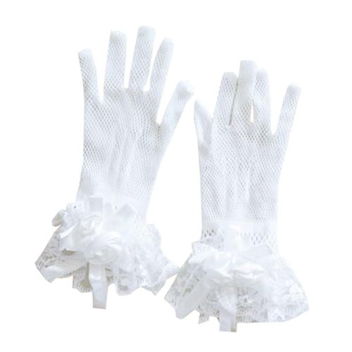 Women's Evening Party Lace Finger Gloves(Short) Gloves For Wedding Prom Party,A7