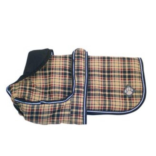 Luxury Coat Classic Check Showerproof Dog Coat 40cm (16'')