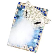 Rechargeable Lighter Stylish Rhinestone Windproof Cigarette Lighters with USB, A25