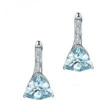 Blue Crystal Leverback Earrings