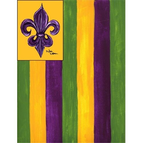 Carolines Treasures 8137CHF 28 x 40 in. Mardi Gras House Size Canvas Flag