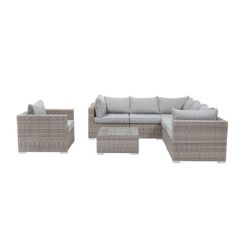 3pc Beliani CONTARE Rattan Garden Sofa Set