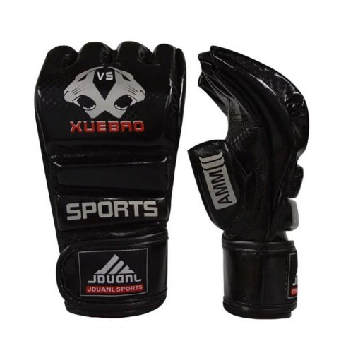 Adult Fighting Half-finger Gloves -UFC Boxing Gloves - Gloves MMA--Black S