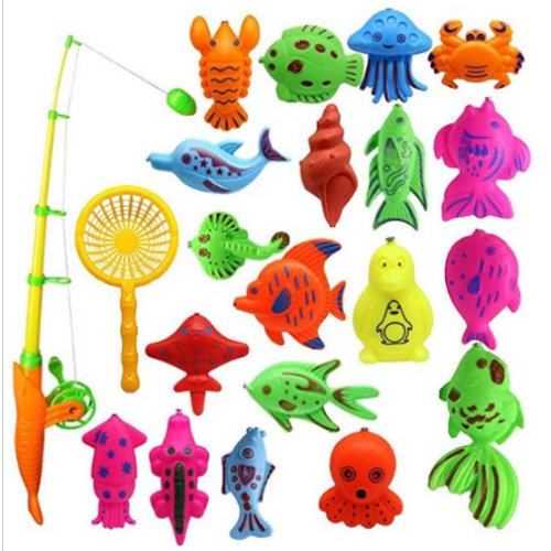Creative Baby Bathing Toy 22-piece Magnetic Fishing Toy Set Bath Toys