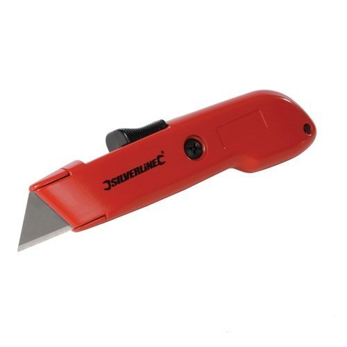 Silverline Auto Retractable Safety Knife 140mm