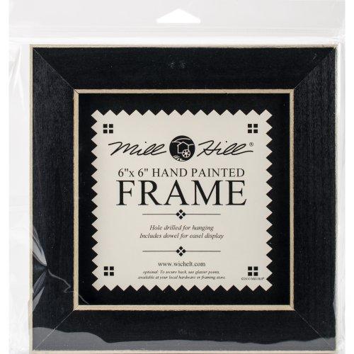 """Wooden Frame 6""""X6""""-Matte Black"""