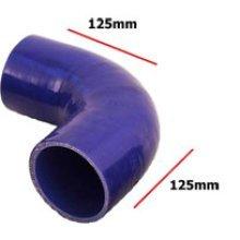 76mm Blue Internal 90 Degree Universal Silicone Hosing - Pipe 4 Ply Inside - Blue 90 Degree Universal Blue Silicone Hosing Pipe 4 Ply Inside Diameter