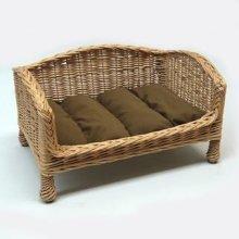 Willow Pet Bed Settee Medium Dark Cushion