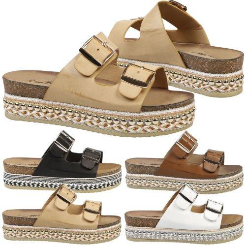 Emerson Womens Flatform Espadrille Sandals