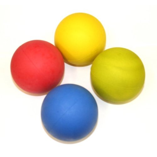 Megastore 247 Floating Rubber Balls Dog Fetching Balls Mixed Colours 24x
