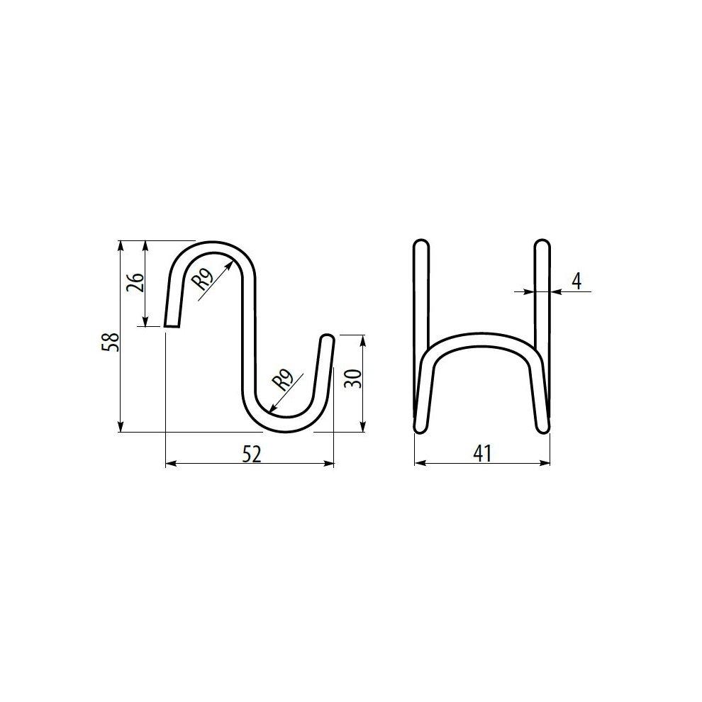 57mm Kitchen Hook Meat Airer Dryer Garage Tool 1 x STEEL Double /'S/' HOOK