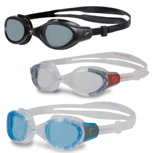Speedo Adult Futura Biofuse Goggle - Clear/red - Swimming Goggles Clear Antifog -  speedo futura biofuse swimming goggles clear antifog pouch adult